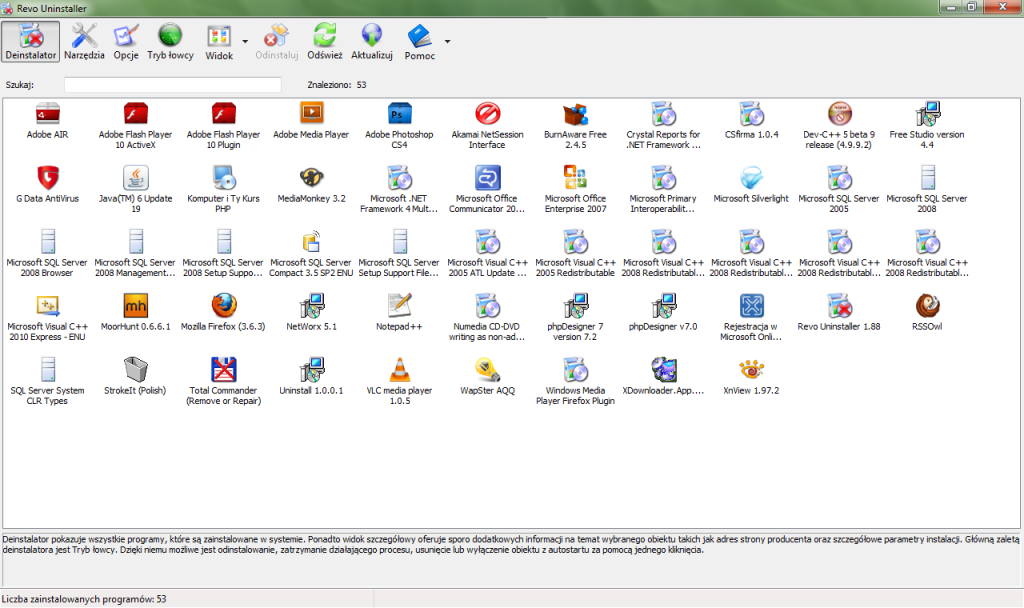 Sử dụng Revo Uninstaller Pro 4.0.1