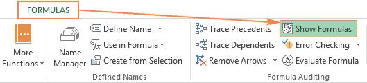 Cách hiển thị công thức trong Excel