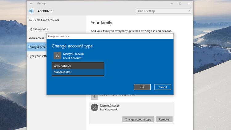Windows 10 Local Accounts