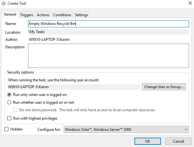 Cách tự động dọn sạch Thùng rác trong Windows 10