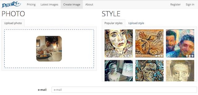 DeepArt là một ứng dụng web miễn phí để biến hình ảnh thành tranh vẽ nghệ thuật
