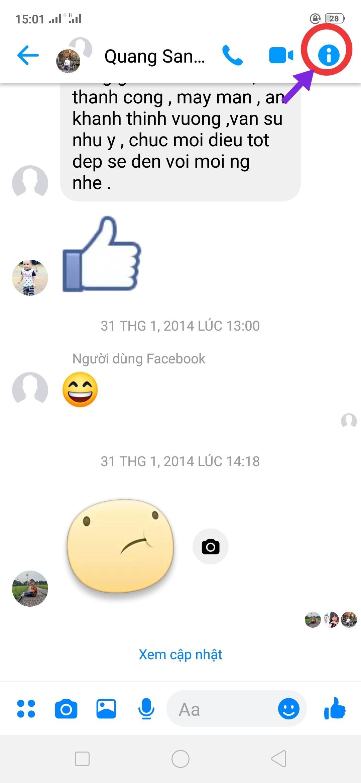 Cai dat tat thong bao Messenger