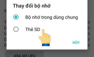 Di chuyen ung dung sang the nho sd tren samsung, oppo