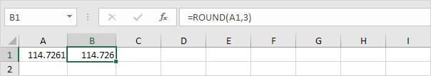 Làm tròn đến ba vị trí thập phân trong Excel