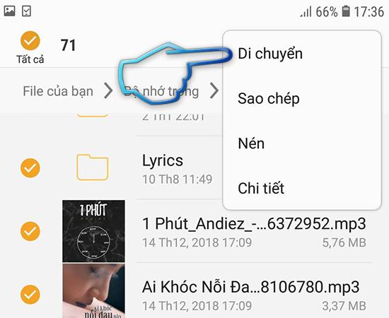 Chon di chuyen file