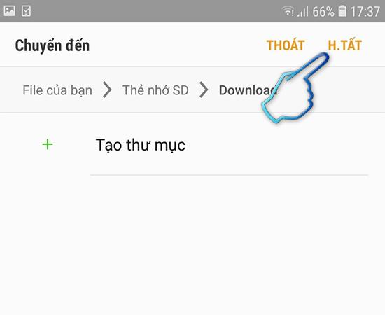 Nhan hoan tat de ket thuc qua trinh chuyen du lieu