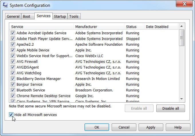 Tắt chương trình tự động khởi động cùng máy tính Win 10, 8, 7