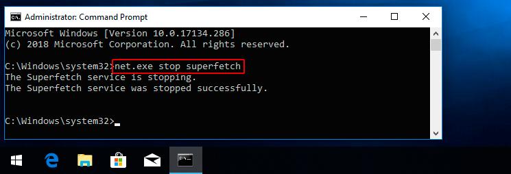 Lỗi disk 100% do windows superfetch
