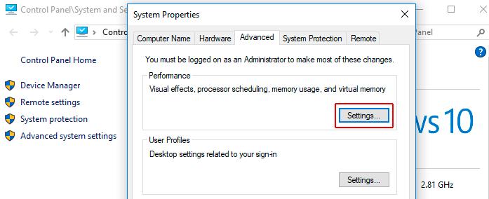Lỗi disk 100% - page file too big