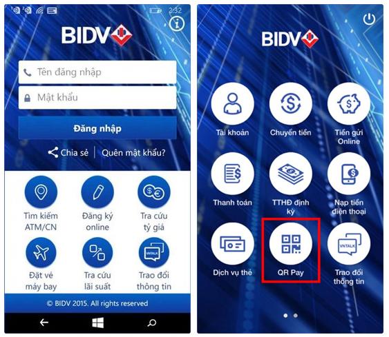 Cách thanh toán bằng QR Pay trên BIDV Smart Banking