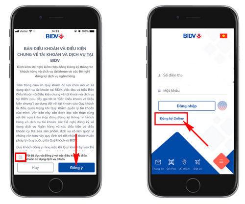 cách đăng ký bidv smart banking online