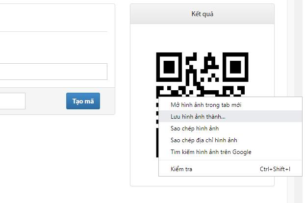 tải mã QR được tạo miễn phí