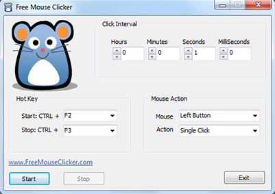 Using software that automatically clicks the computer mouse