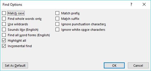 Tìm và thay thế văn bản Word