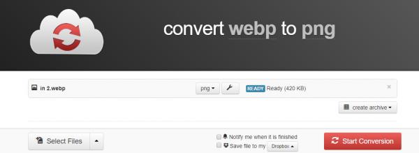 Convert webp format to JPG / PNG online