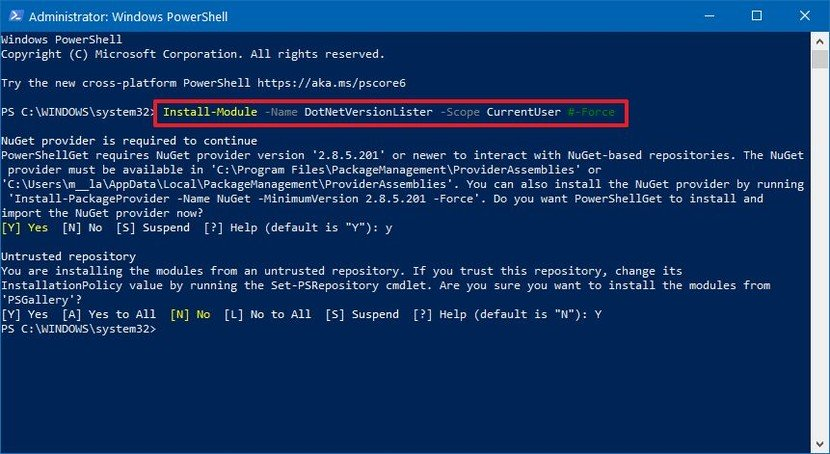 How to check Net Framework on Win 10?