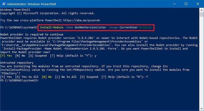 Cách kiểm tra Net Framework trên Win 10